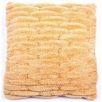 Poszewka na poduszkę włochata pikowana pomarańczo wy, 45 x 45 cm