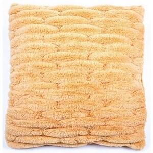 BO-MA Povlak na polštářek chlupatý prošívaný oranžová, 45 x 45 cm