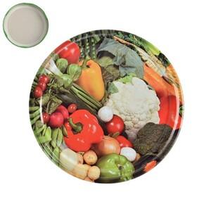 Víčko na zavařovací sklenici Zelenina, 8,5 cm,
