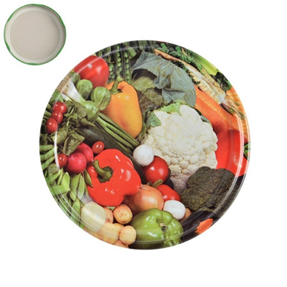 Viečko na zaváracie pohári Zelenina, 8,5 cm,