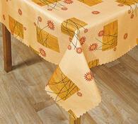 Teflonový ubrus Kytka, oranžová, 120 x 140 cm