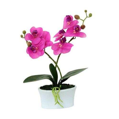 Umělá kvetina orchidea ružová, 30,5 cm, Autronic