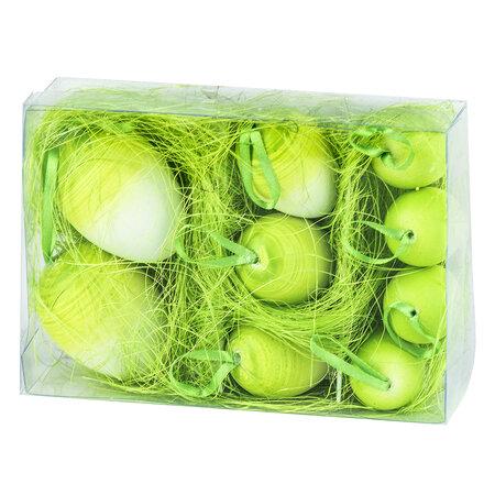 Velikonoční vajíčka 9 ks, zelená