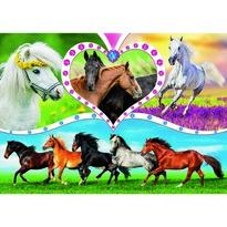 Trefl Puzzle, gyönyörű lovak, 200 részes