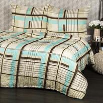Lenjerie pat 1 pers. Paulo, creponată  , 140 x 200 cm, 70 x 90 cm