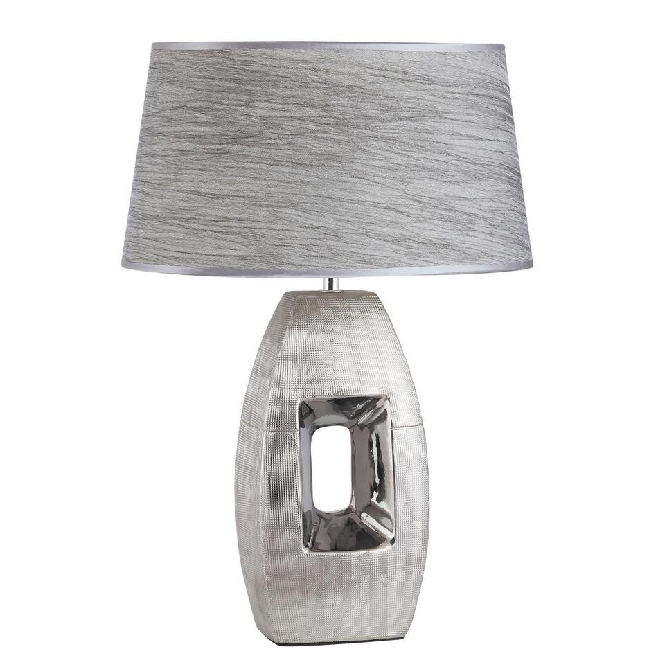 Rabalux 4388 Leah stolná lampa, strieborná