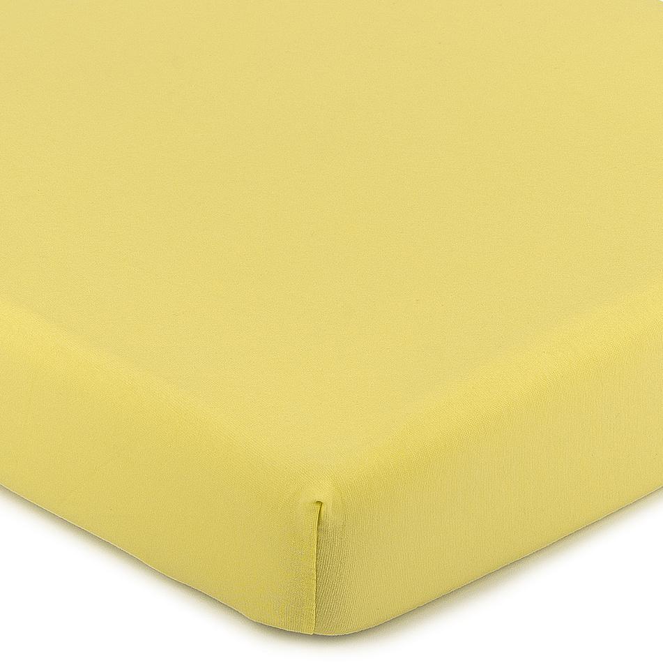 Fotografie 4Home Jersey prostěradlo s elastanem žlutá, 90 x 200 cm