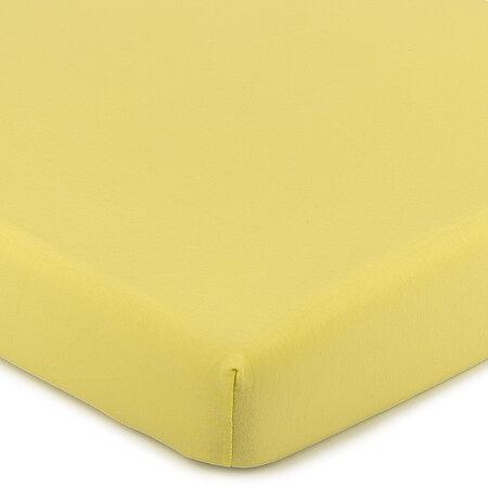 Cearşaf 4Home Jersey, cu elastan, galben, 90 x 200 cm