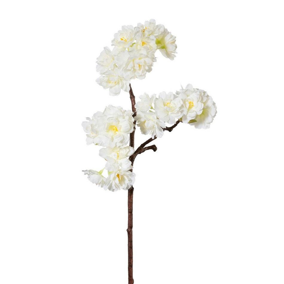 Umělá jarní větev Třešeň bílá, 44 cm