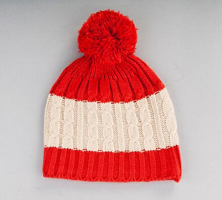 Pletený kulich s fleece vložkou Karpet 5071, oranž