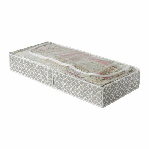 "Compactor Nízký textilní úložný box Compactor - ""Madison"" 100 x 46 x 16 cm"