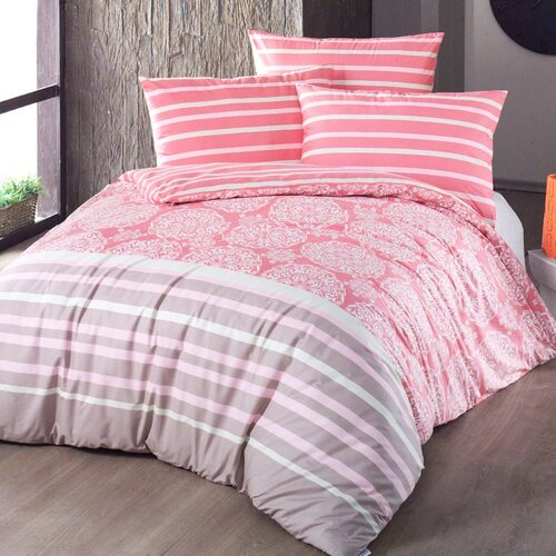 Morbido pamut ágyneműhuzat lazac színű, 140 x 220 cm, 70 x 90 cm