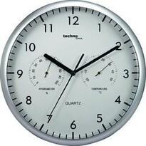Analogové hodiny s teploměrem a vlhkoměrem