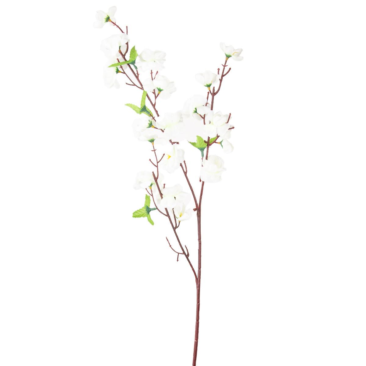 Umělá větvička Broskvoň bílá, 65 cm