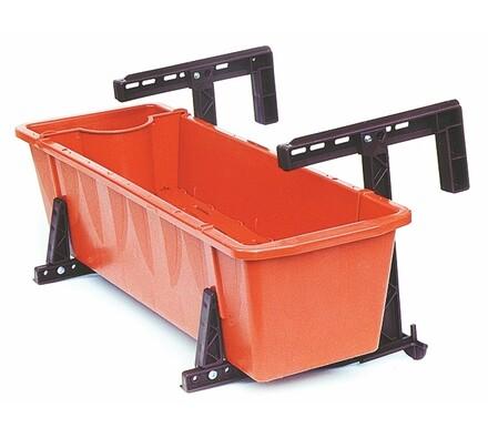 Balkónový držák truhlíků se zvýšenou nosností oranžový