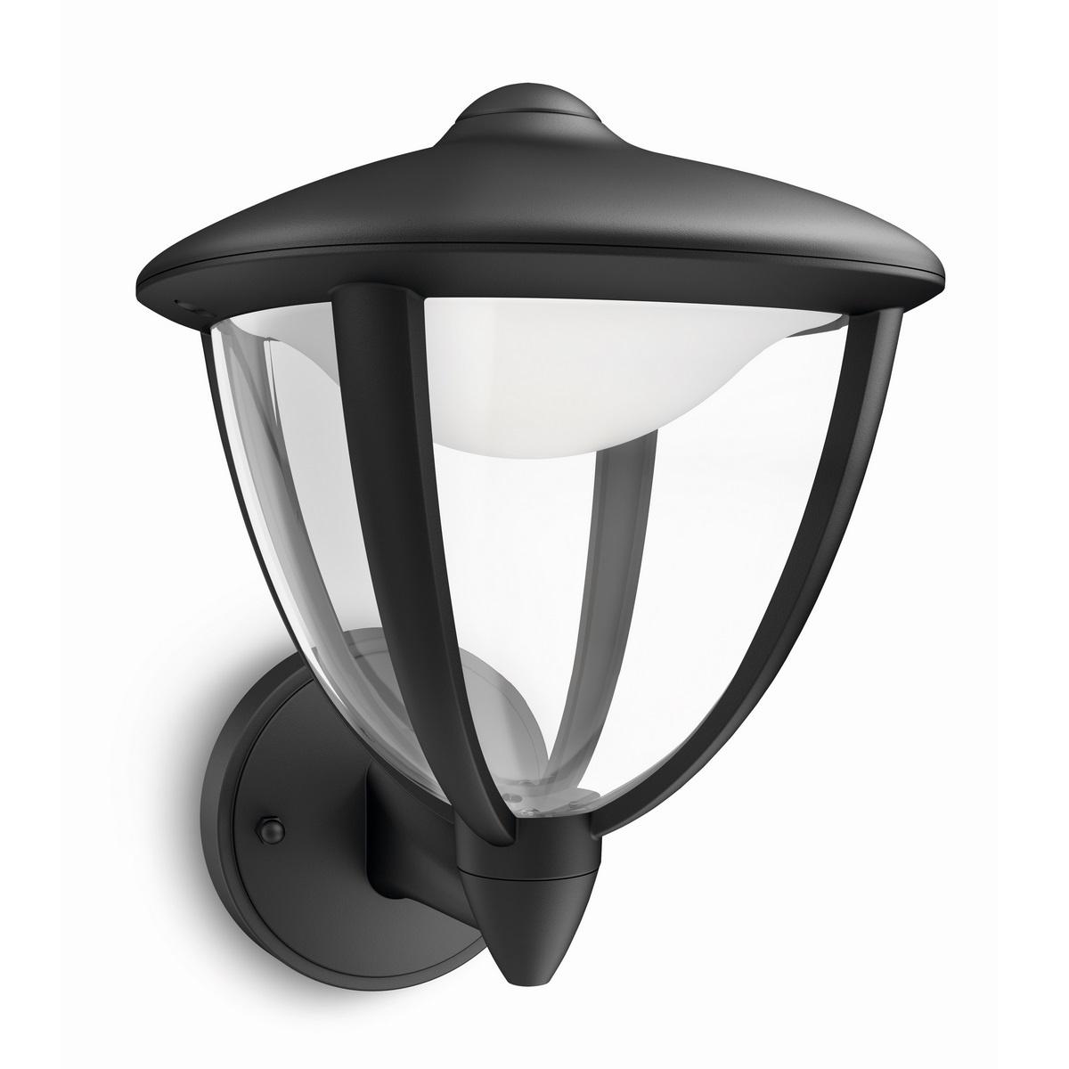 Philips 15470/30/16 Robin Vonkajšie nástenné LED svietidlo 24 cm, čierna