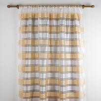 Függöny széles sávval bézs színű, 140 x 245 cm