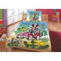 Matějovský márkájú Kisvakond és az autó gyermek ágynemű, 140 x 200 cm, 70 x 90 cm