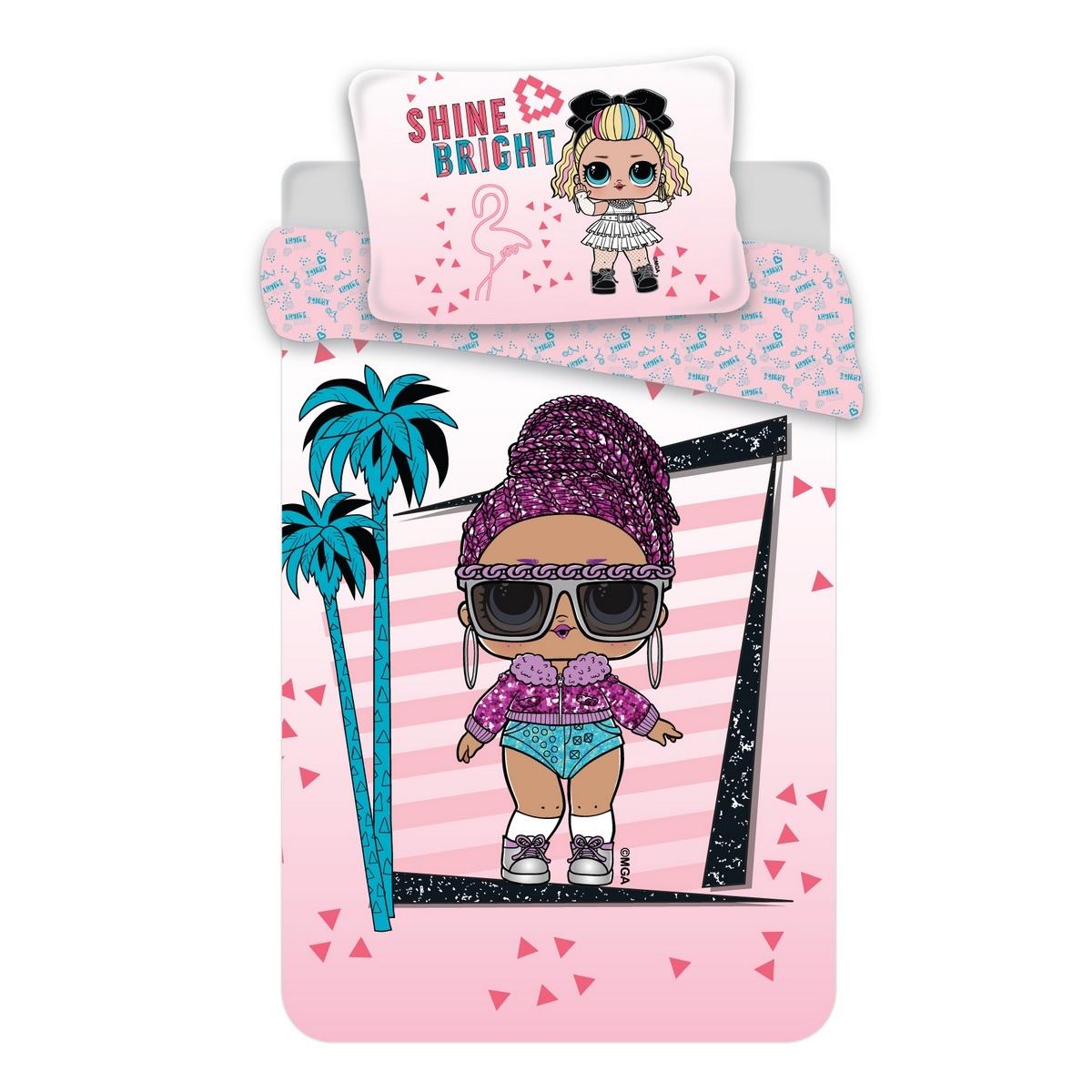 Jerry Fabrics Dětské bavlněné povlečení LOL 02 pink, 140 x 200 cm, 70 x 90 cm