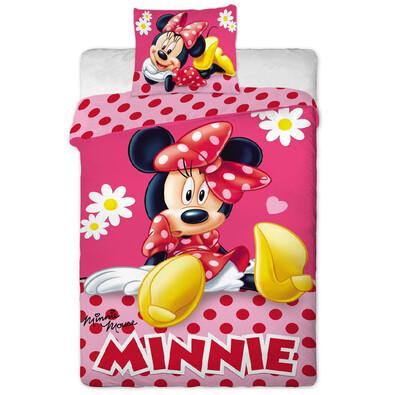 Dětské bavlněné povlečení Minnie pinkie dot, 140 x 200 cm, 70 x 90 cm