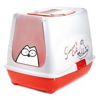 Karlie Toaleta pre mačky Simons červená, 50 x 39,5 x 37,5 cm