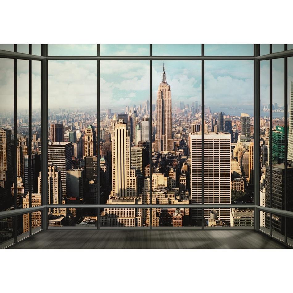 Fototapeta mesto New York 360 x 253 cm, Wall