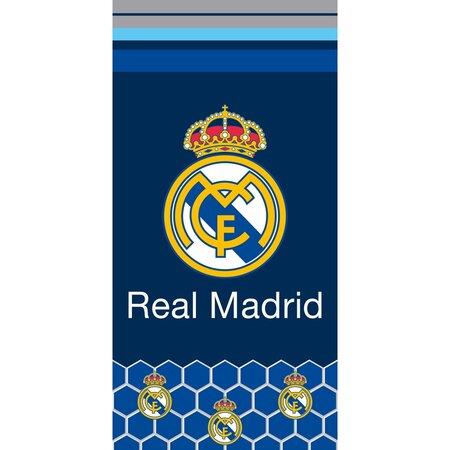 Osuška Real Madrid Hexagons, 70 x 140 cm