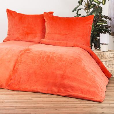 4home obliečky mikroflanel oranžová, 140 x 200 cm, 70 x 90 cm