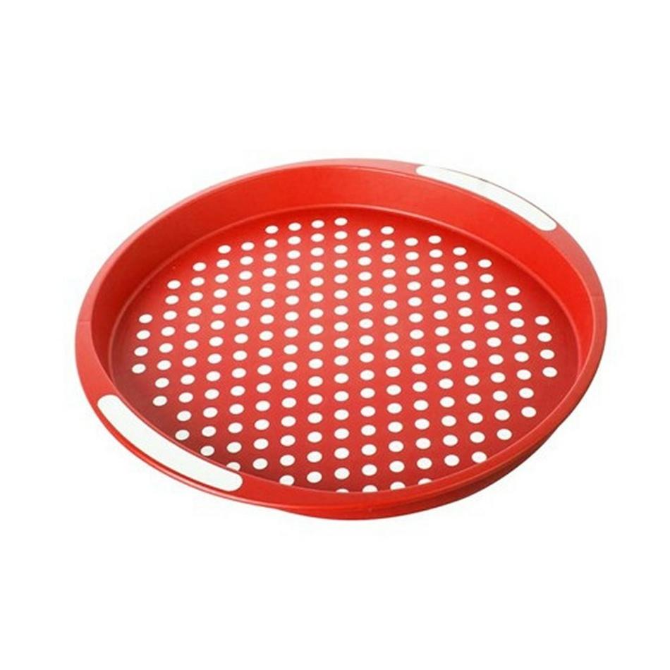 BANQUET Plastový podnos 40x40x4 cm červený, protišmykový 12G56R