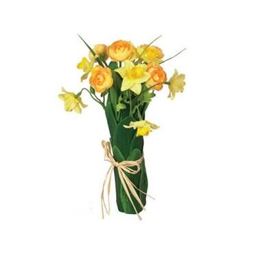 Umělá květina svazek narcisů a ranunculusů