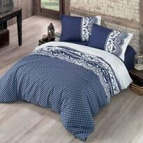 Pościel bawełniana Canzone niebieska, 140 x 200 cm, 70 x 90 cm