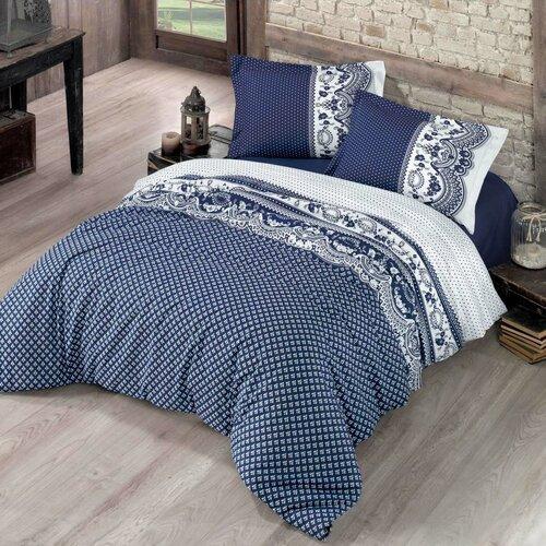 Bavlnené obliečky Canzone modrá, 140 x 200 cm, 70 x 90 cm
