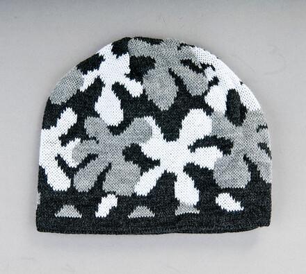 Dětská pletená čepice Karpet 5155, šedá, šedá