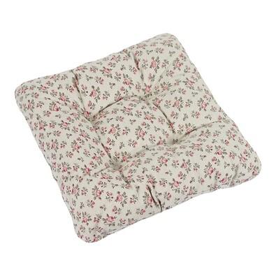 Sedák Ivo růžička růžovo šedá, 40 x 40 cm, sada 2 ks