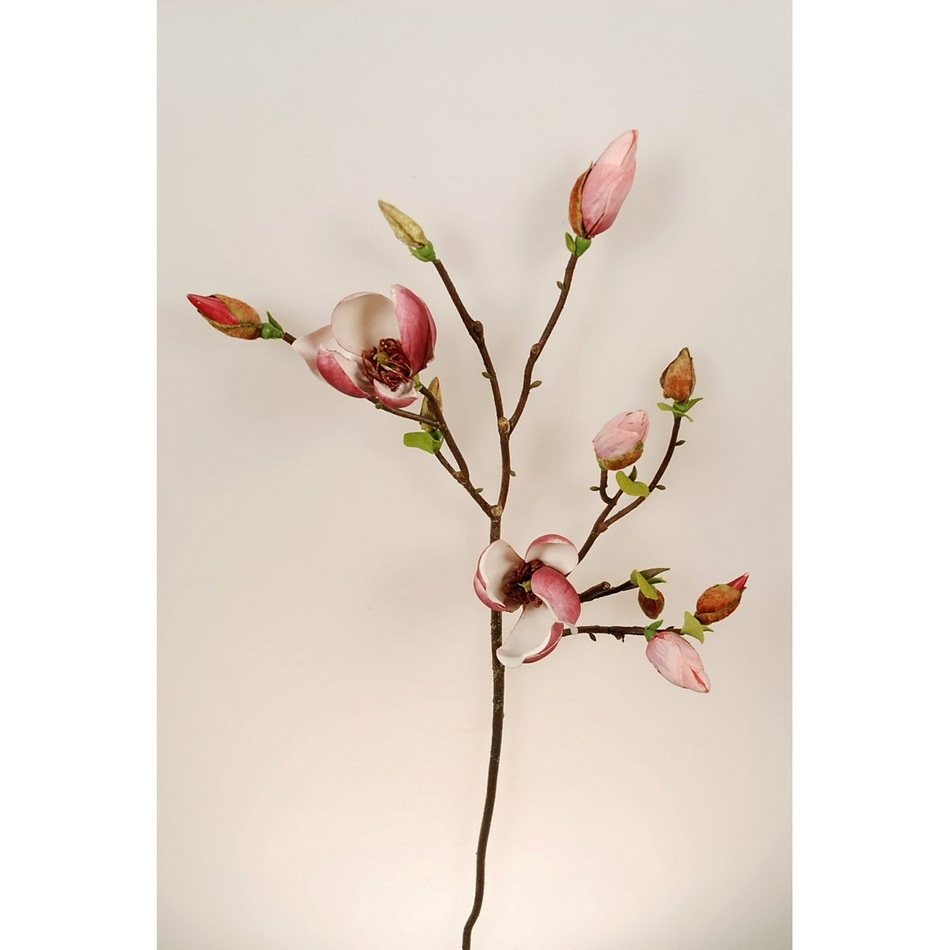 Umělá větvička Magnolie růžová, 95 cm