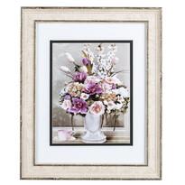 Obraz Bukiet kwiatów i różowa filiżanka Rose