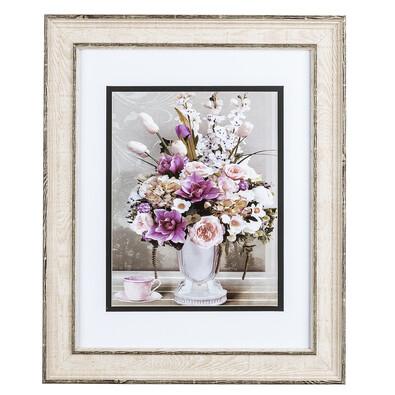 Rose Virágcsokor rózsaszín csészével falikép
