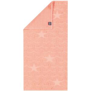 Cawö Frottier ručník Star lososová, 50 x 100 cm
