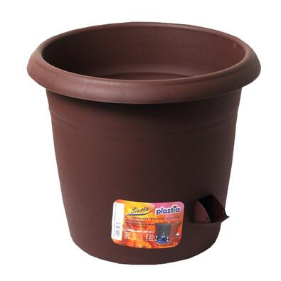 Samozavlažovací květináč Siesta, čokoláda, 25 cm