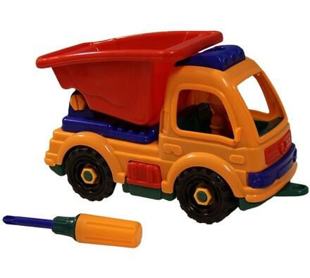 Auto rozebírací se sklápečkou, oranžová