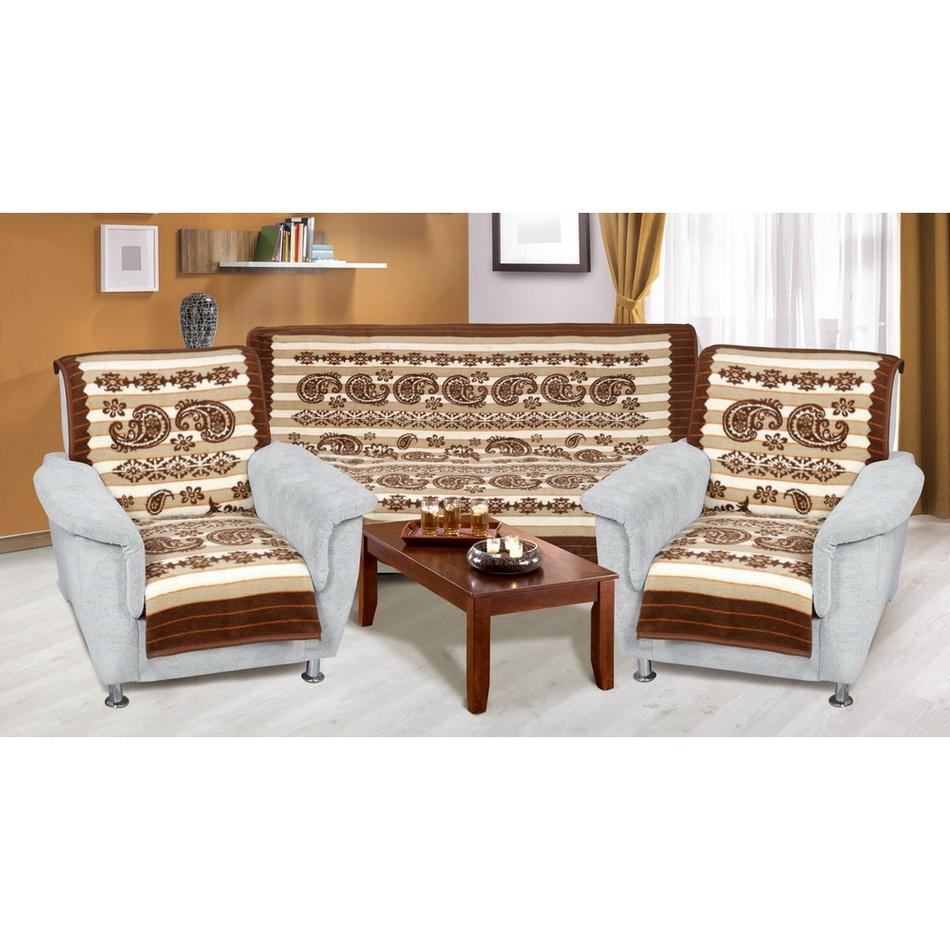 Bellatex Prehozy na sedaciu súpravu Karmela plus Kašmír, 150 x 200 cm, 2 ks 65 x 150 cm