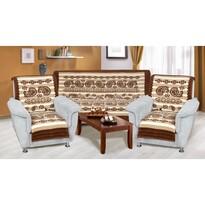Cuverturi pentru canapea și fotolii Karmela plus Cașmir, 150 x 200 cm, 2 buc. 65 x 150 cm