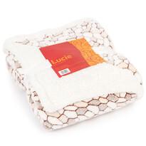 Pătură imitație lână Lucie bej 1, 150 x 200 cm