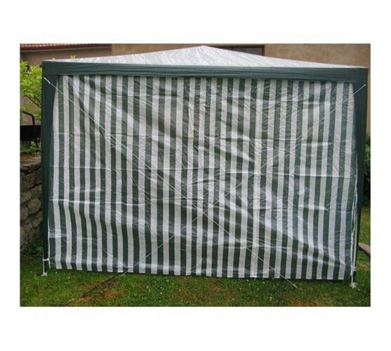 Bočnice záhradného stanu bez okna s pruhmi 2,95 x 1,9 m
