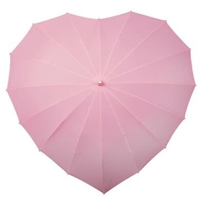 Dámský holový deštník srdce Heart sv.růžová