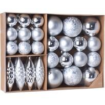 Sada vianočných ozdôb Terme strieborná, 31 ks