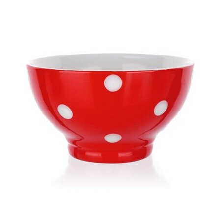 Banquet Miska keramická 13 cm, červené s puntíky