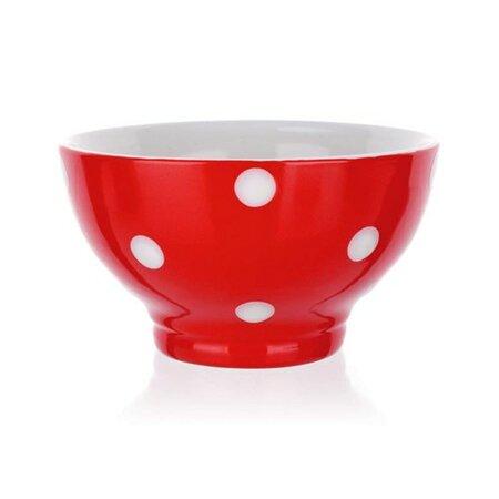 Banquet Miska keramická 13 cm, červená s bodkami