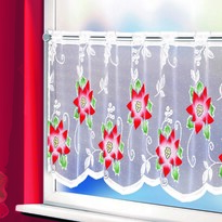 Csillagos karácsonyi függöny, 45 x 120 cm