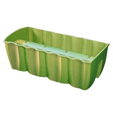 Balkónový truhlík na zábradlí Zelená 18 l